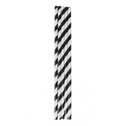 PAPER STRAW BLACK AND WHITE